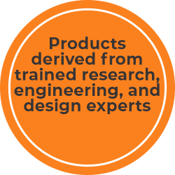 Products derived from trained research, engineering, and design experts